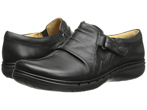 Clarks - Un Casey (Black Leather) Women's Shoes