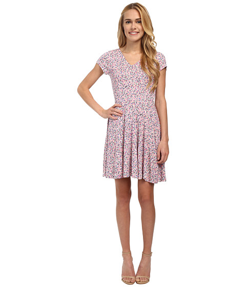 French Connection - Water Garden Jersey Dress (Porcelian Multi) Women