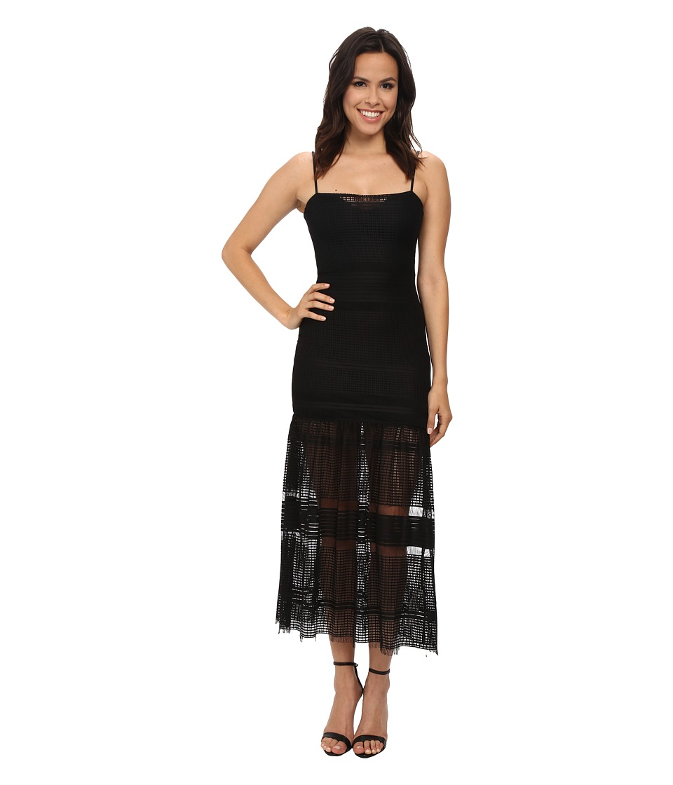 French Connection - Fringe Fancy Dress (Black) Women's Dress