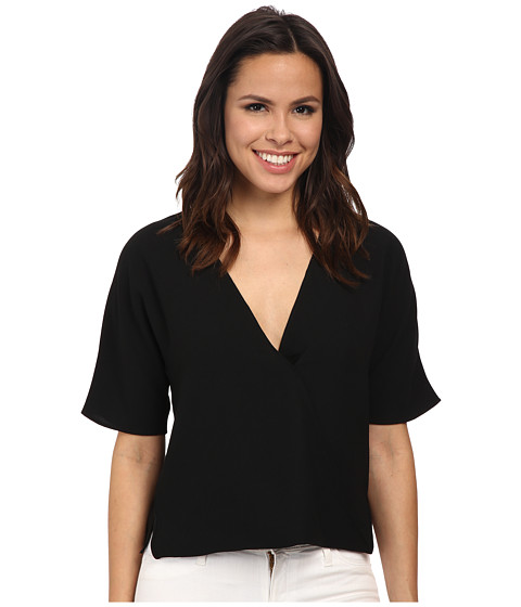 French Connection - Aro Crepe Top (Black) Women's Blouse