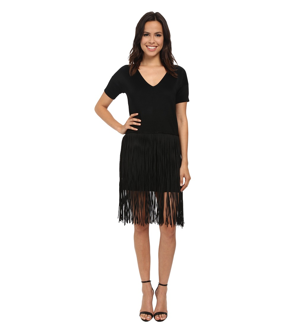 French Connection - Spotlight Fringe Dress (Black) Women