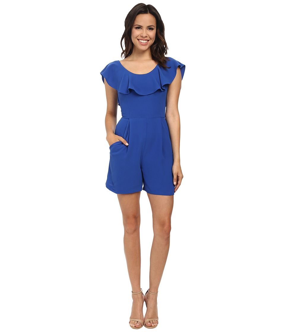 French Connection - Aro Crepe Romper (Electric Blue) Women's Jumpsuit & Rompers One Piece
