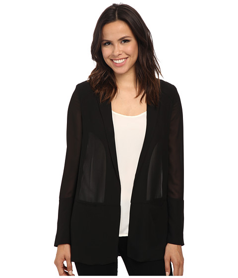 French Connection - Shimmer Spell Blazer (Black) Women's Jacket