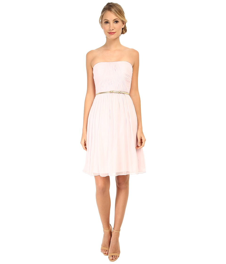 Donna Morgan - Donna Strapless Chiffon Dress w/ Belt (Petal) Women's Dress