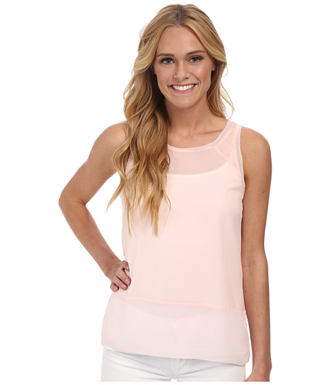 French Connection - Polly Plains Raw Edge (Deco Blush) Women's Sleeveless
