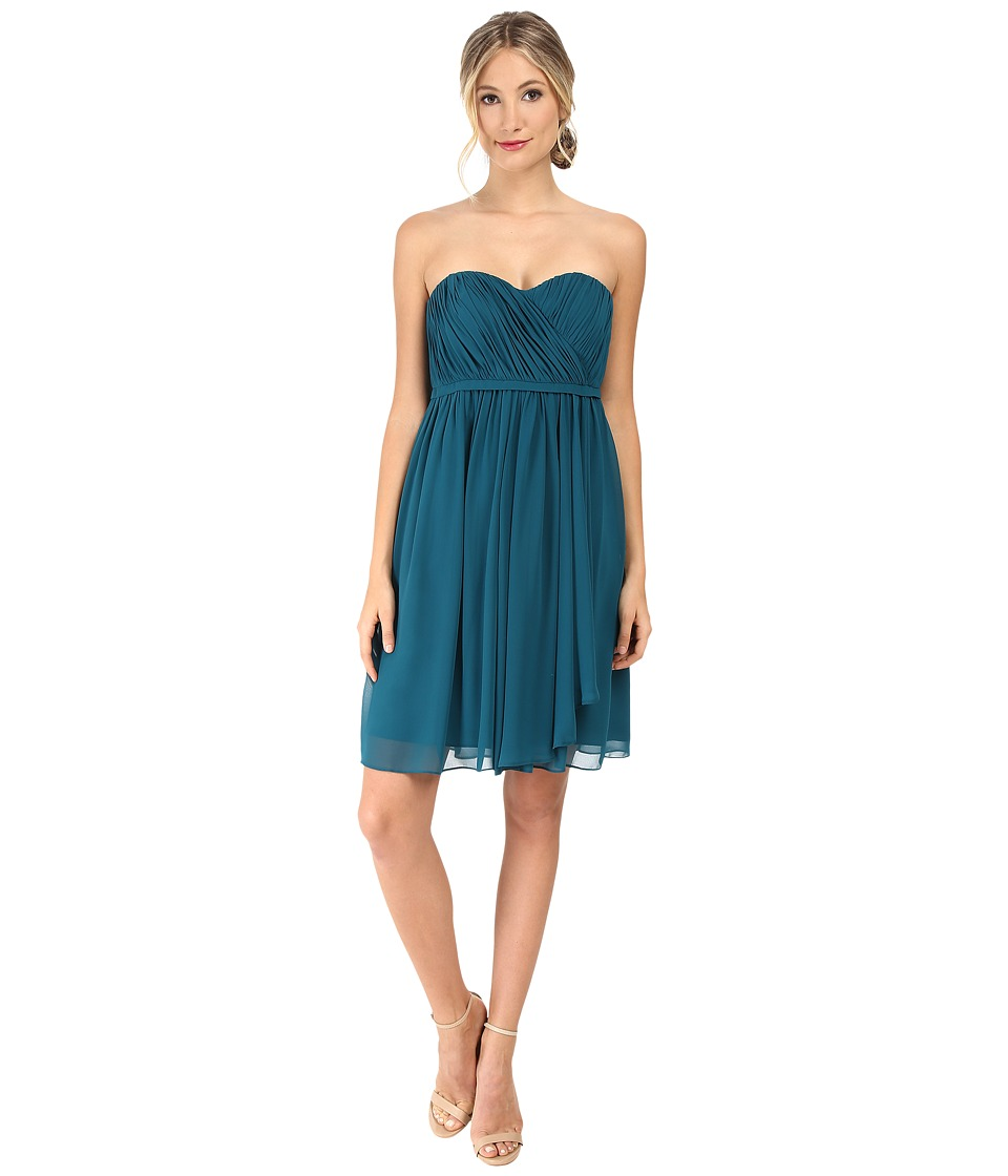 Donna Morgan - Lindsey Strapless Chiffon Dress (Victorian Jade) Women