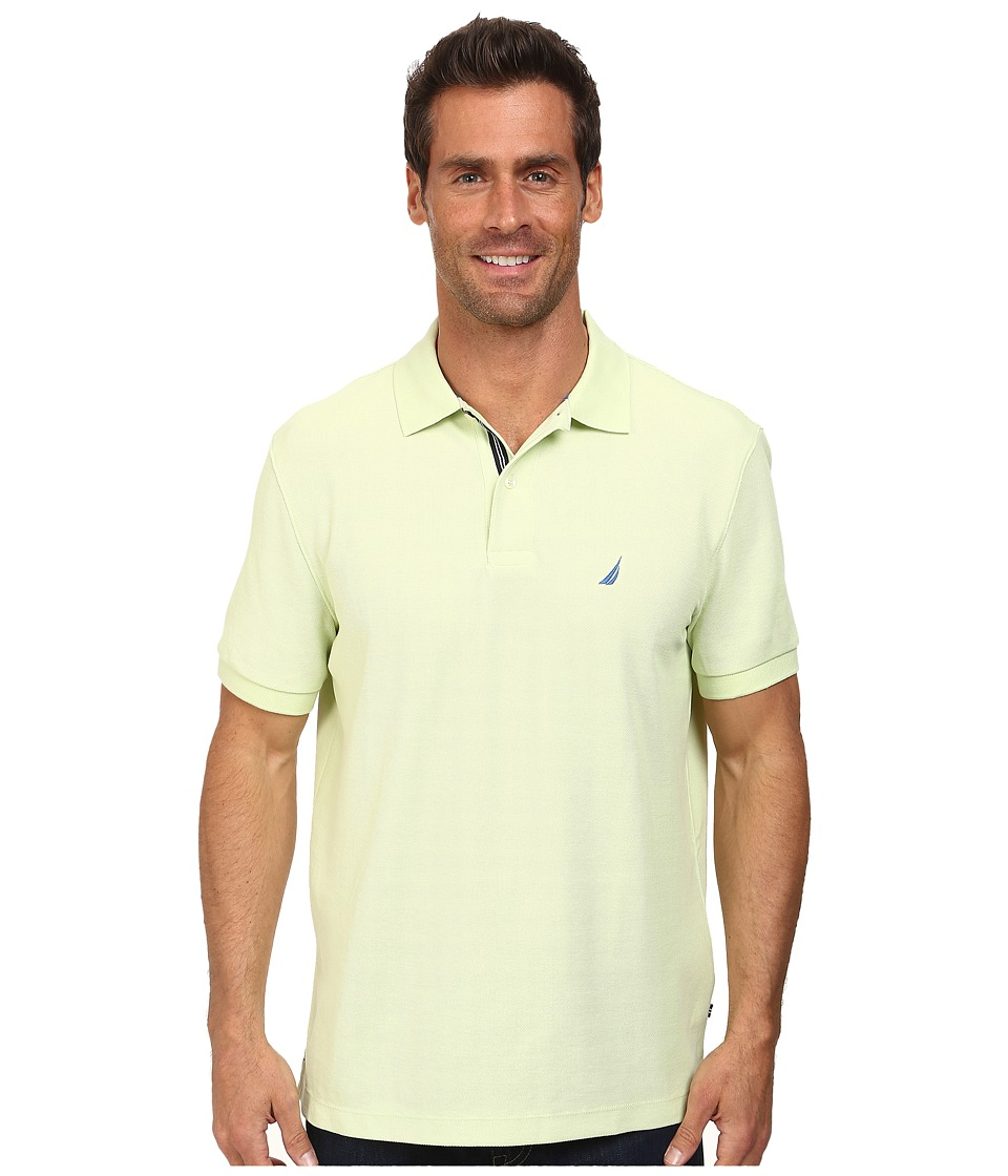 Nautica - S/S Solid Deck Shirt (Soft Lime) Men's Short Sleeve Pullover