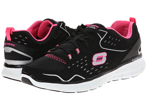 SKECHERS - Synergy - Front Row (Black/Pink) Women's Shoes