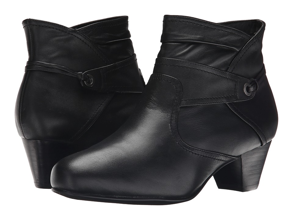 David Tate - Campus (Black Leather) Women's Shoes