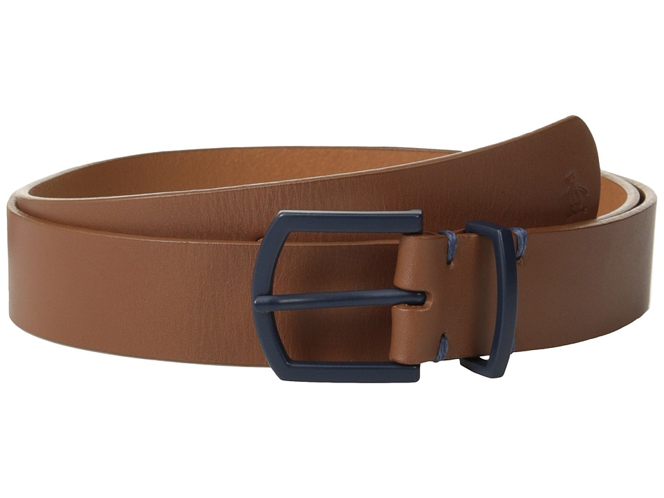 Original Penguin - Cesar Leather Belt (English Tan) Men's Belts