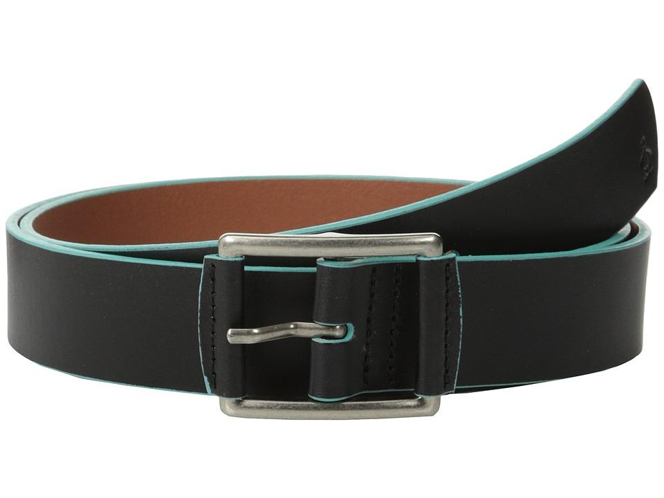 Original Penguin - Grady Leather Belt (Black) Men's Belts