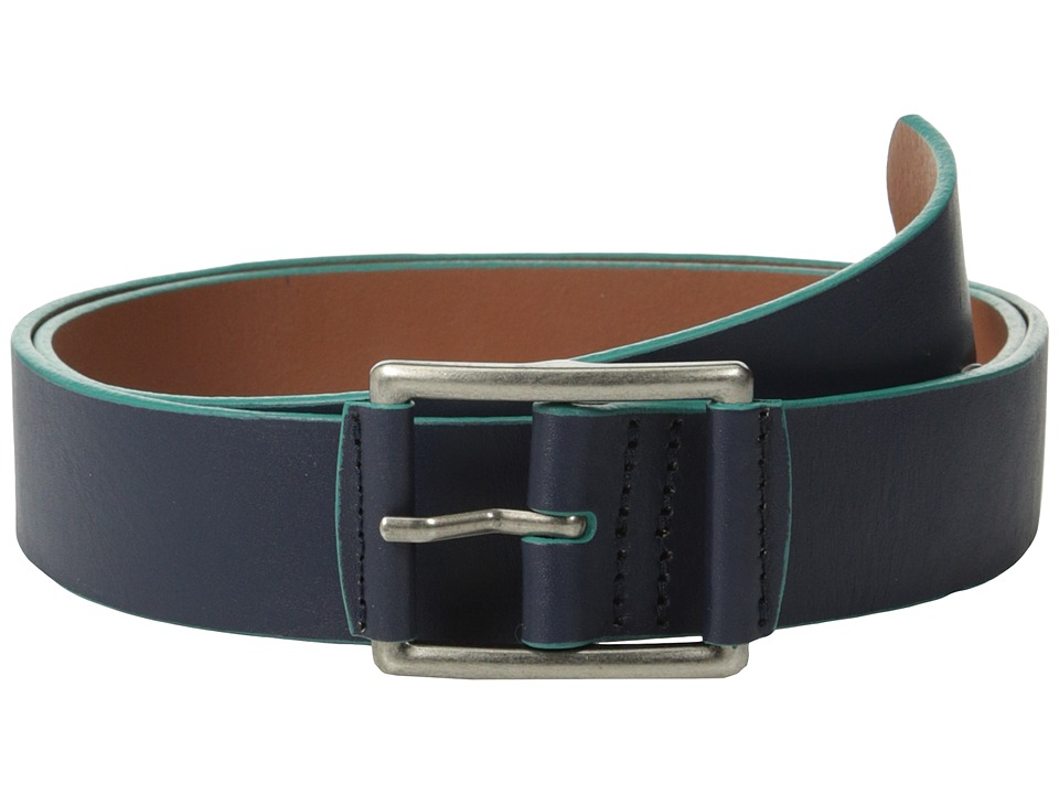 Original Penguin - Grady Leather Belt (Dress Blues) Men's Belts