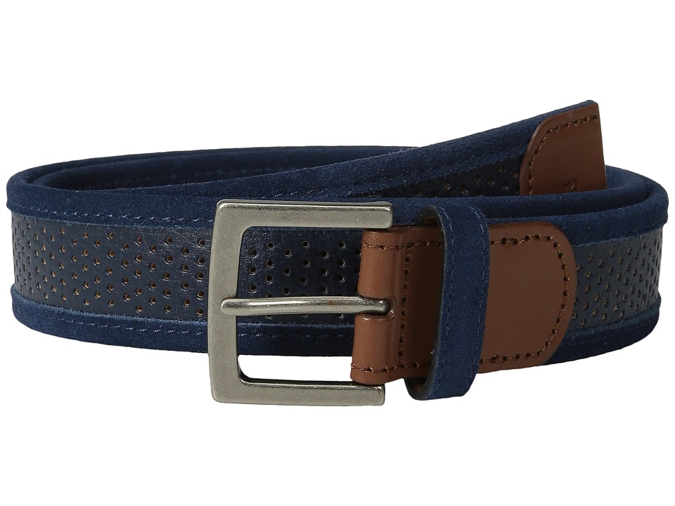 Original Penguin - Monte Leather Belt (Dress Blues) Men's Belts