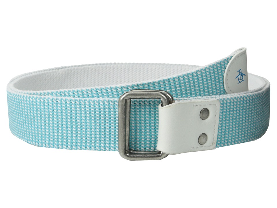 Original Penguin - Drucker Webb Solid Belt (White) Men's Belts