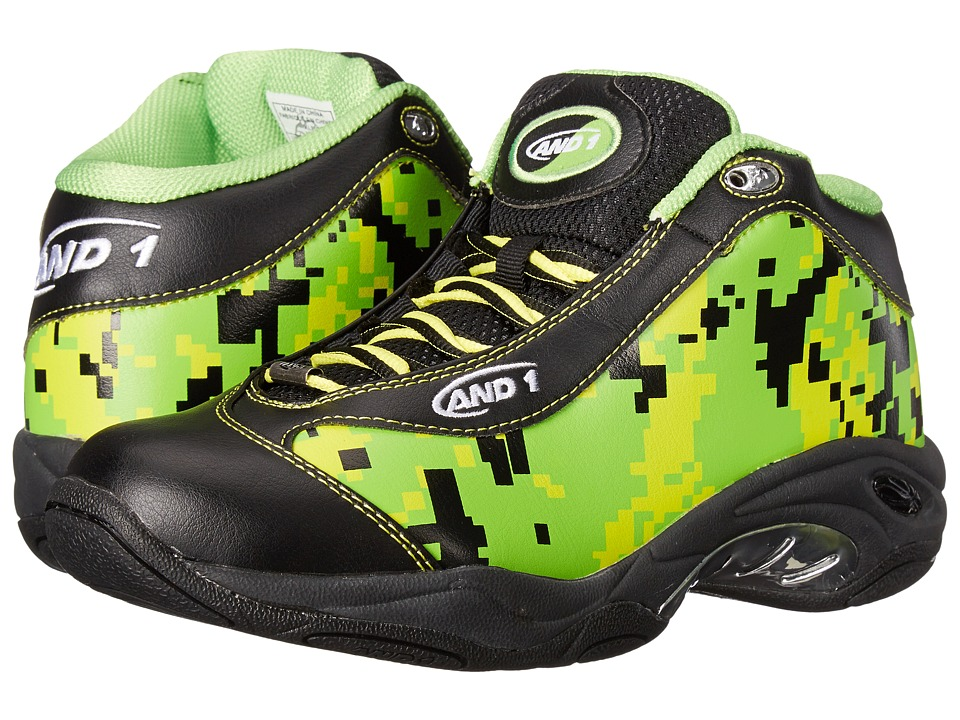 AND1 - Tai Chi (Camo/Black/Black) Men's Basketball Shoes