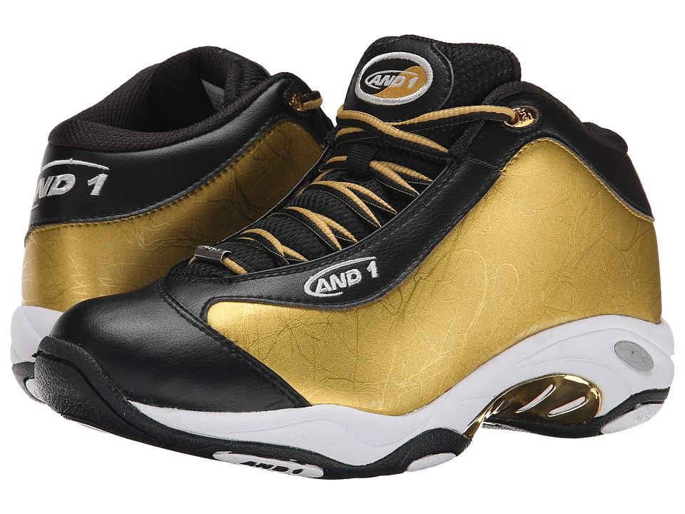 AND1 - Tai Chi (Black/Gold/White) Men's Basketball Shoes