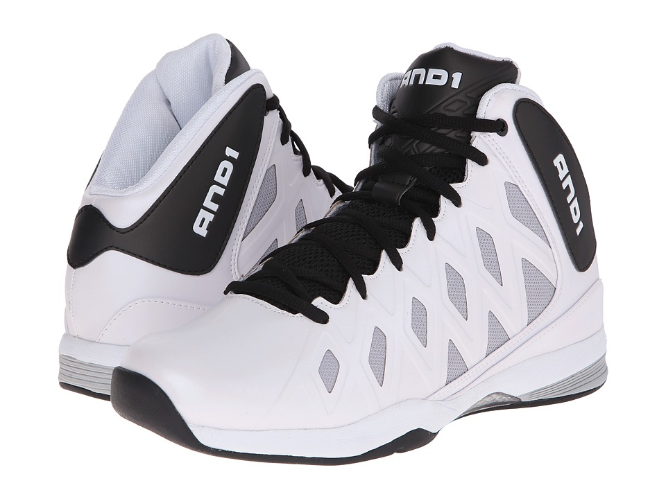 AND1 - Unbreakable (White/Black/White) Men's Basketball Shoes