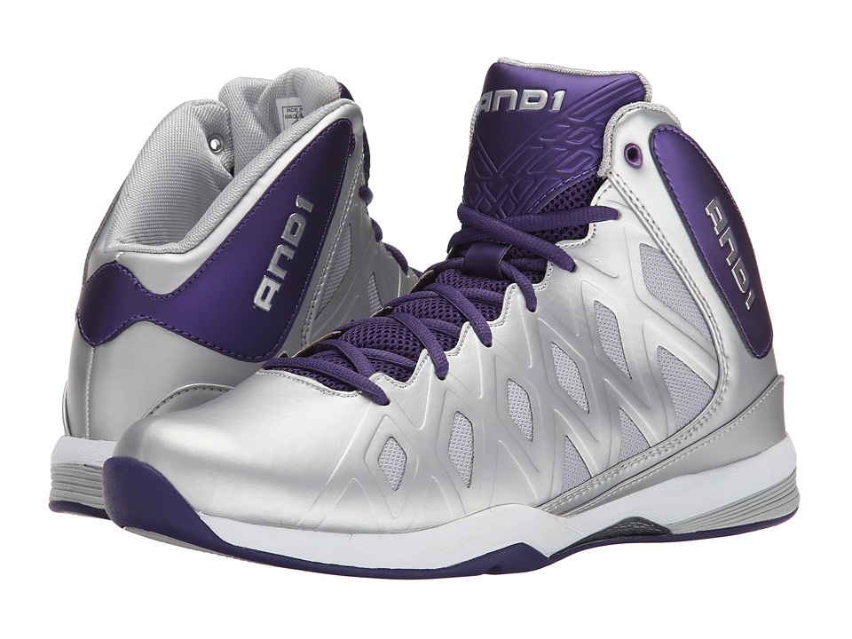 AND1 - Unbreakable (Silver/Parachute/Silver) Men's Basketball Shoes