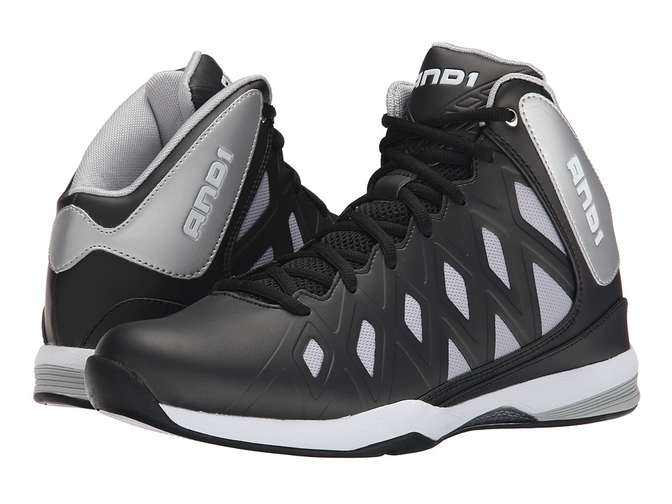 AND1 - Unbreakable (Black/Silver/White) Men's Basketball Shoes