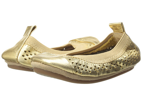 Yosi Samra Kids - Scarlet Super Soft Ballet Flat (Toddler/Little Kid/Big Kid) (Pure Gold Perforated Leather) Girl's Shoes