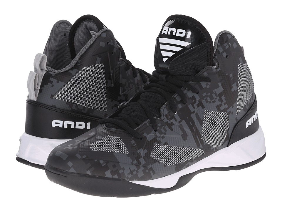 AND1 - Xcelerate 2 (Black/Silver/White) Men's Basketball Shoes