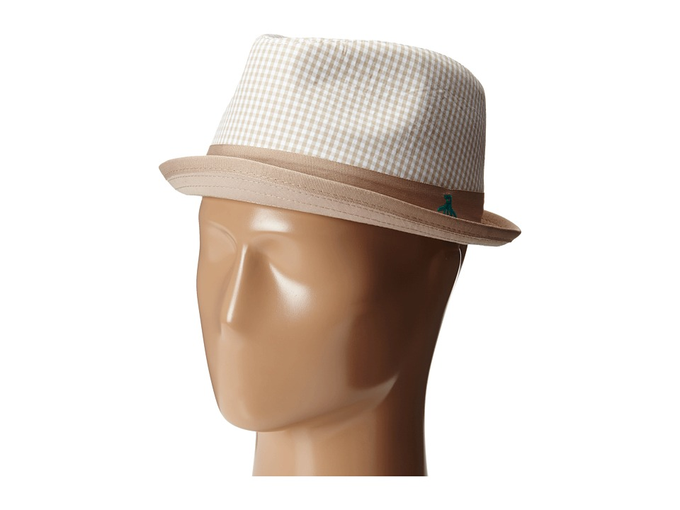 Original Penguin - Miramar Gingham Fedora (Pale Khaki) Fedora Hats