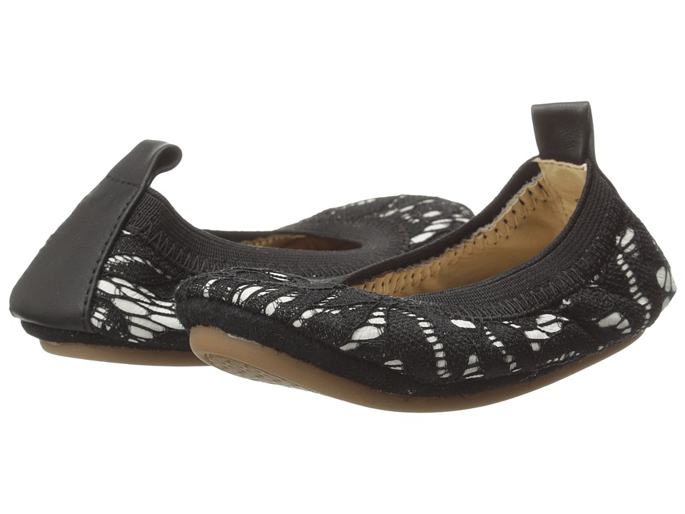 Yosi Samra Kids - Sammie Super Soft Ballet Flat (Toddler/Little Kid/Big Kid) (Black Lace with Alsina Leather Backing) Girls Shoes
