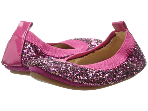 Yosi Samra Kids - Sammie Super Soft Ballet Flat (Toddler/Little Kid/Big Kid) (Jazzberry Chunky All Over Glitter) Girls Shoes
