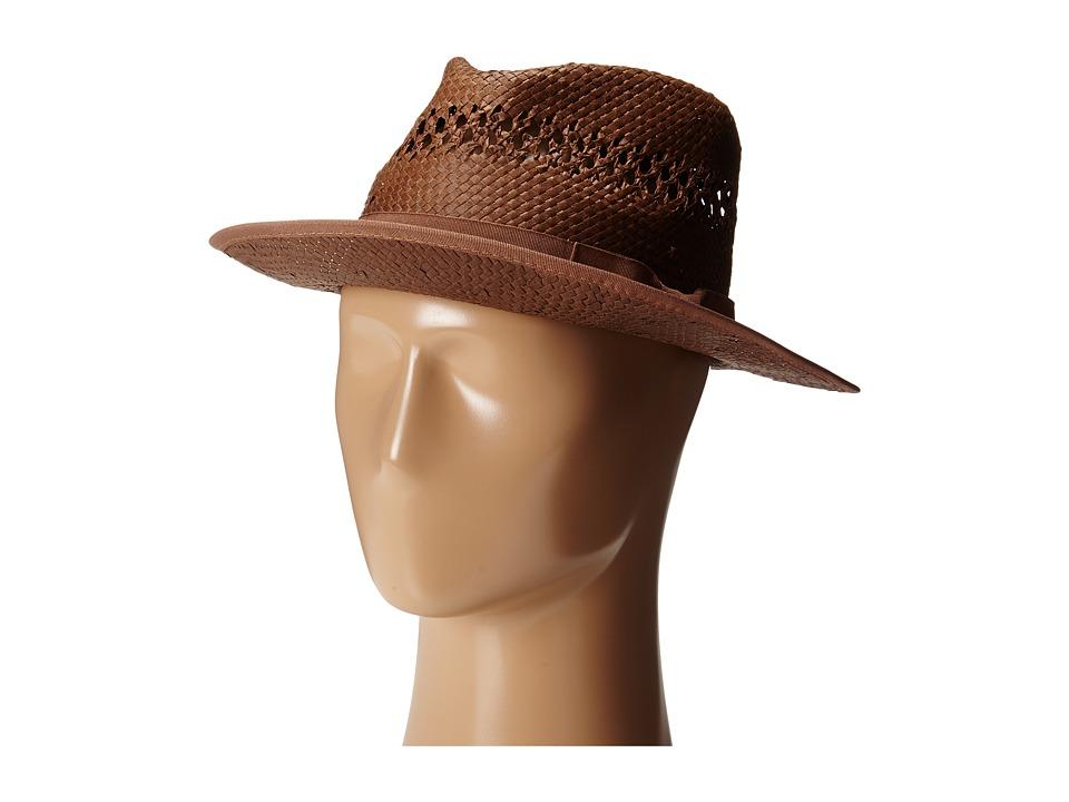 Original Penguin - Lazaro Straw Fedora (Brown) Fedora Hats