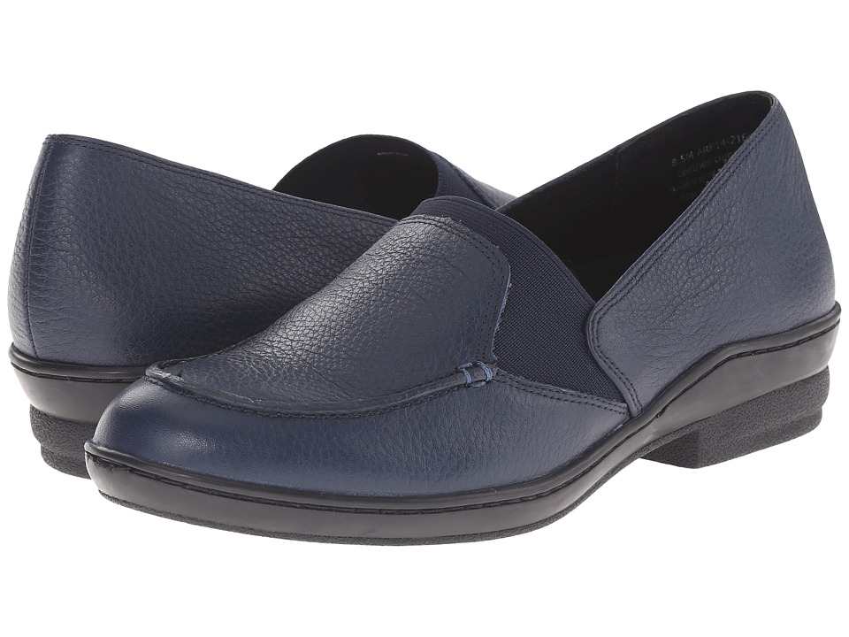 David Tate Stretchy (Navy Pebble Grain) Women