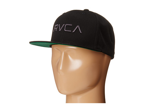 RVCA - Twill Snapback (Black/Charcoal) Baseball Caps