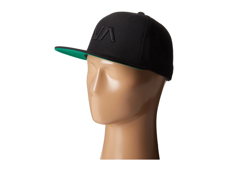 RVCA - VA Snapback II (Black Black) Caps