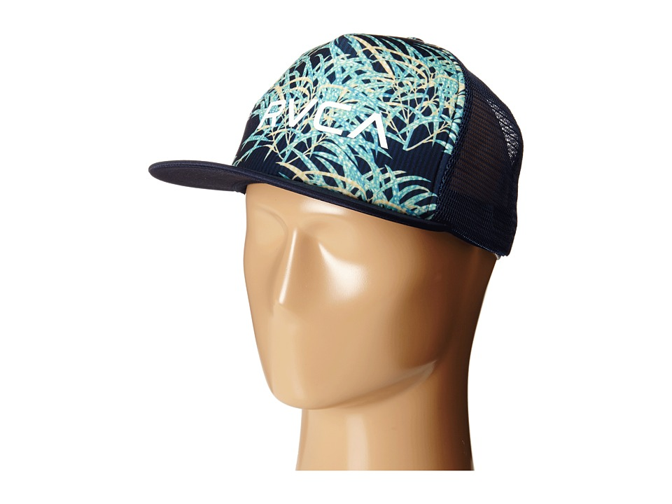 RVCA - The Trucker Print Hat (Night Shadow) Caps
