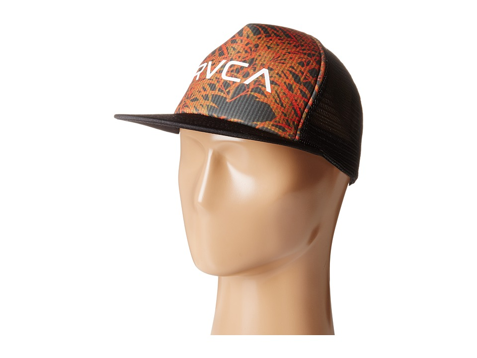 RVCA - The Trucker Print Hat (Black) Caps