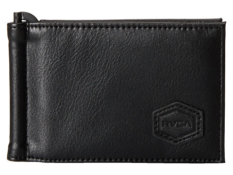 RVCA - Klips Bifold Wallet (Black) Wallet Handbags