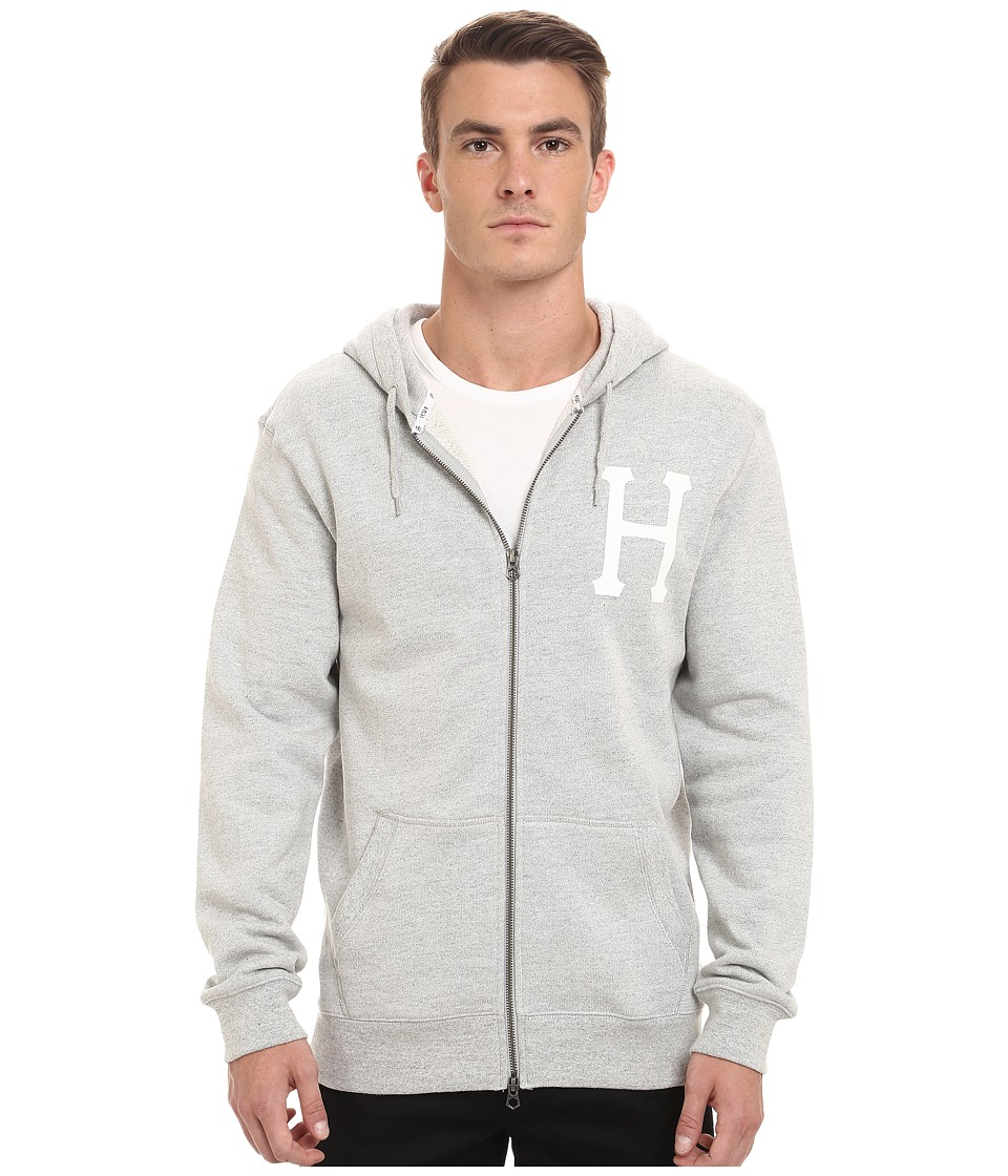 HUF - PT Zip-Up Hoodie (Gray Heather) Men's Sweatshirt