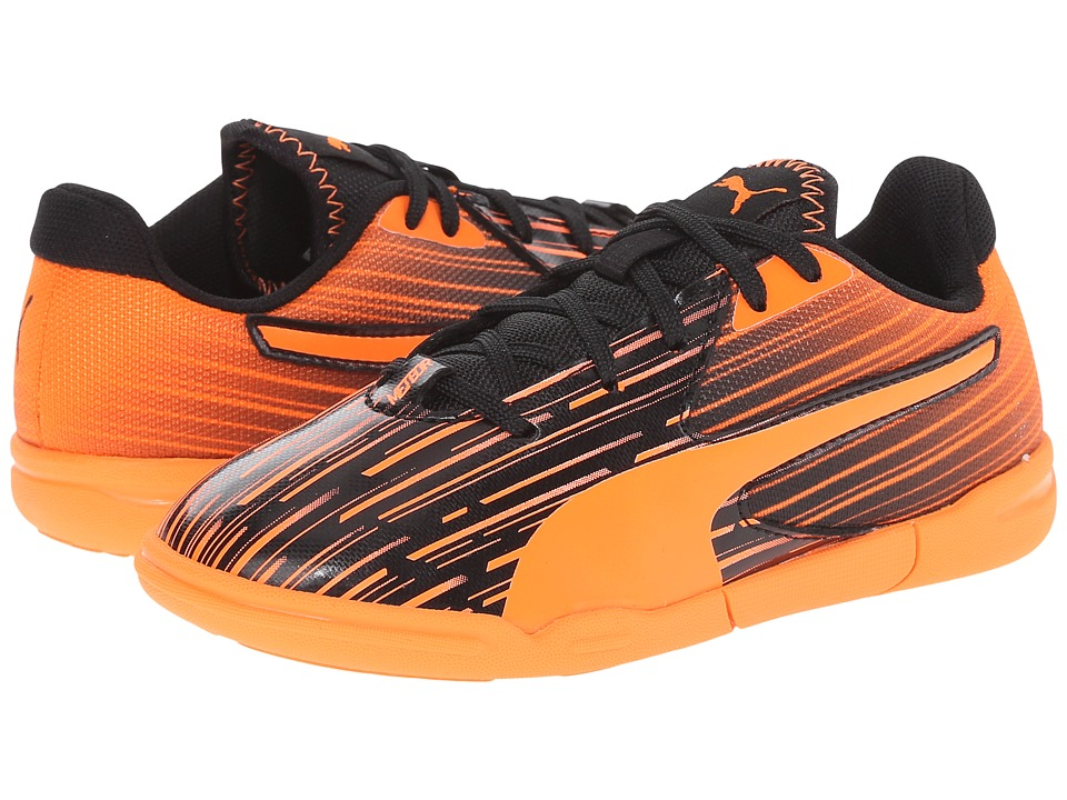 Puma Kids - Meteor Sala LT Jr (Little Kid/Big Kid) (Black/Orange Clown Fish) Kids Shoes