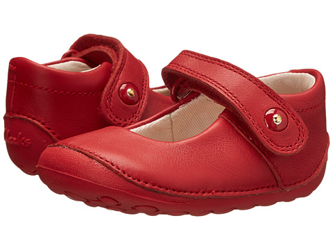 Clarks Kids - Little Boo (Infant/Toddler) (Red) Girls Shoes