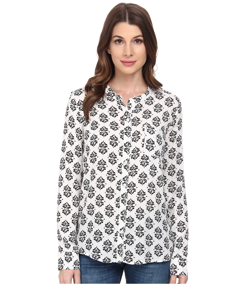 Splendid - Medallion Print Shirt (White/Black) Women's Clothing