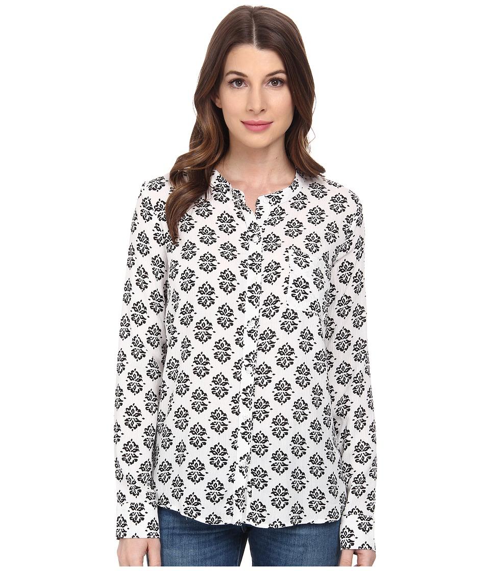 Splendid - Medallion Print Shirt (White/Black) Women's Clothing
