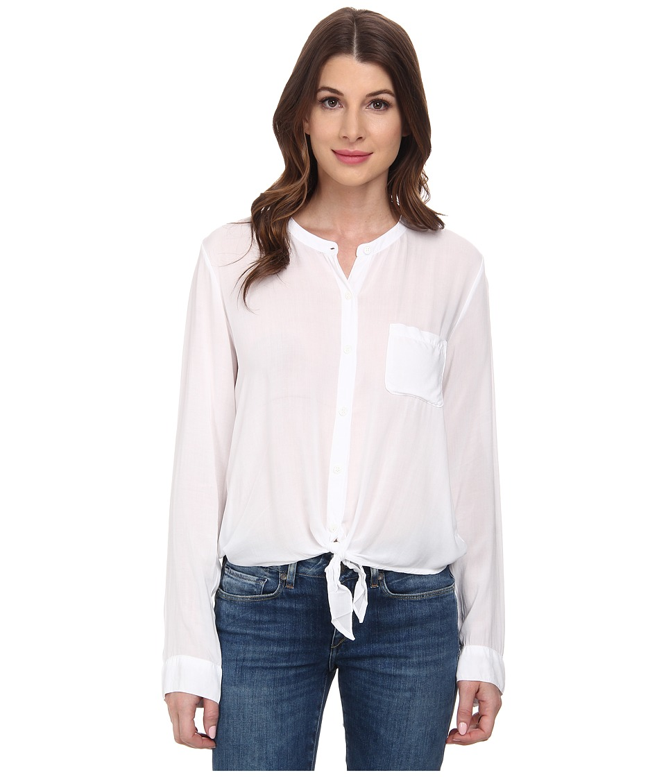 Splendid - Rayon Voile Tie Front Top (White) Women's Clothing