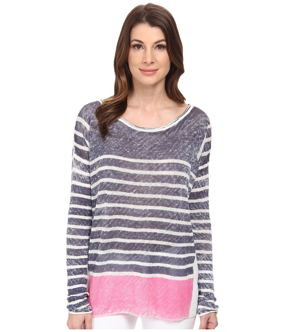 Splendid - Linen Print Sweater (Navy) Women's Sweater