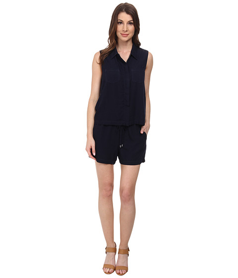 Splendid - Rayon Voile Romper (Navy) Women's Jumpsuit & Rompers One Piece