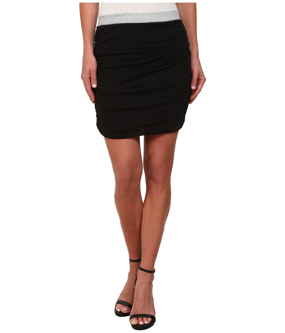 Splendid - Rib Mix Skirt (Black) Women