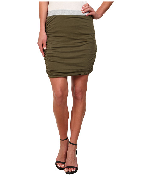 Splendid - Rib Mix Skirt (Olivine) Women