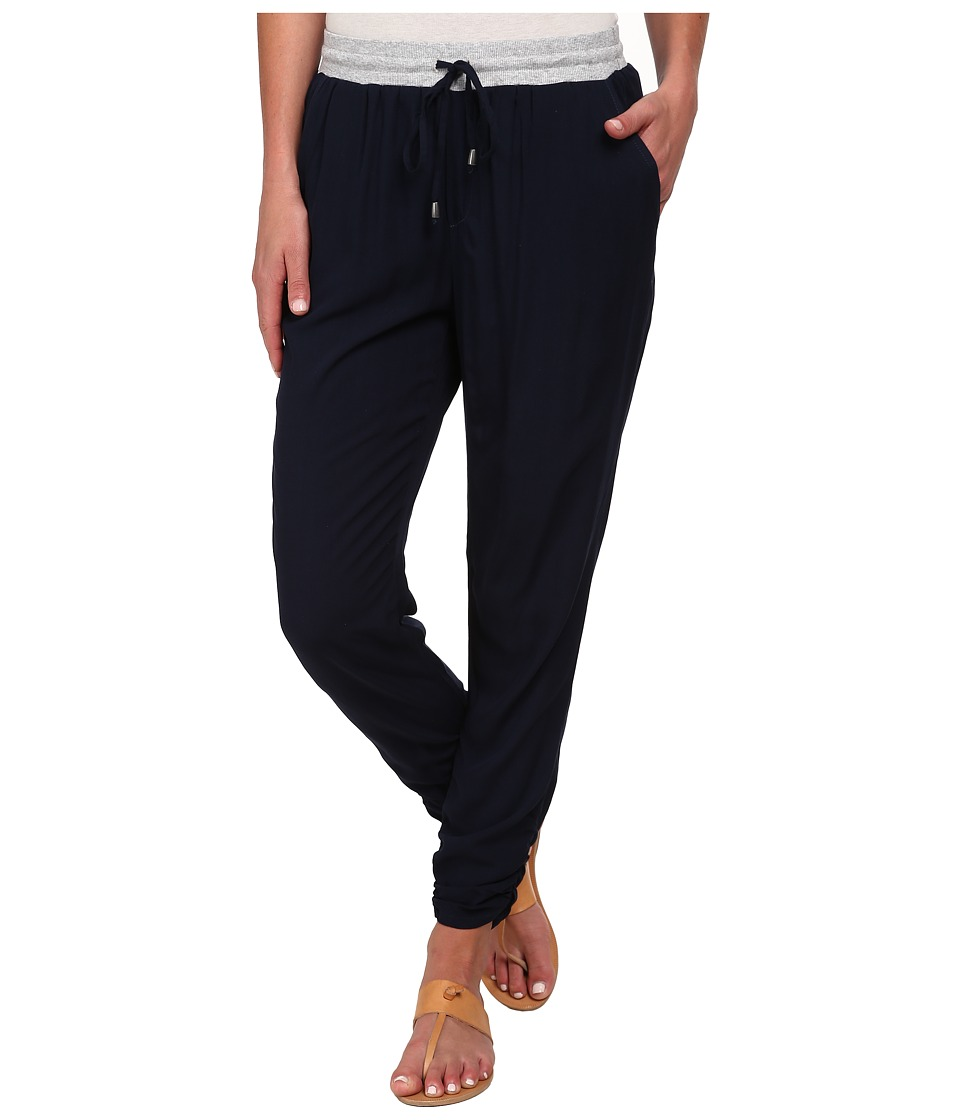 Splendid - Rib Mix Pants (Navy) Women's Casual Pants