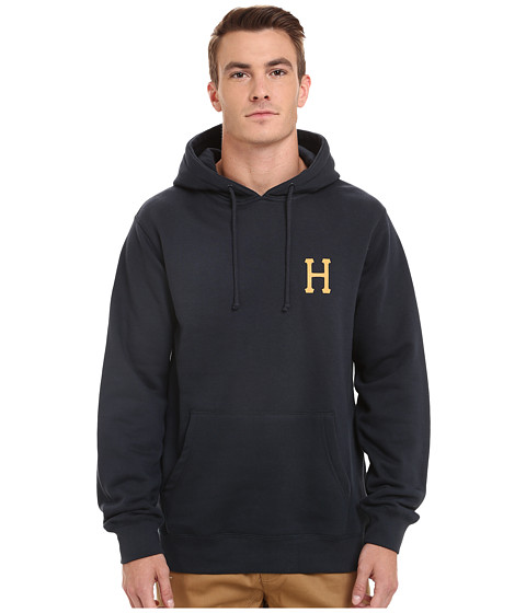 HUF - Classic H Pullover Fleece (Navy) Men's Fleece