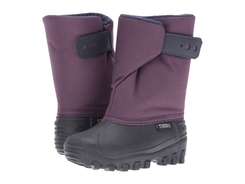 Tundra Boots Kids - Teddy (Toddler/Little Kid) (Navy/Plum) Girl's Shoes