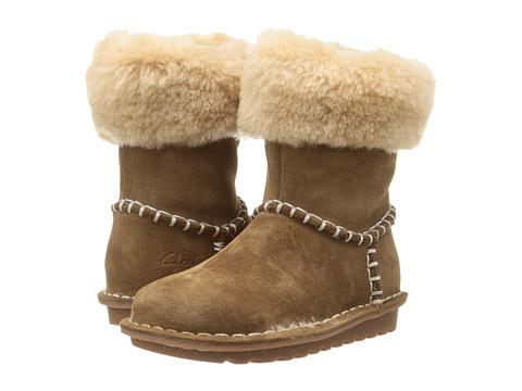 Clarks Kids - Greeta Ace (Toddler/Little Kid) (Walnut) Girl's Shoes