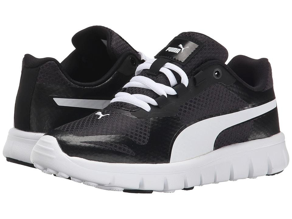 Puma Kids - Puma Blur JR (Little Kid/Big Kid) (Black/Dark Shadow/White) Kids Shoes